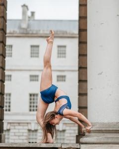 Charlotte Johnson modelling Prima Dancewear.