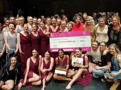 DanceNZmade 2018 Interschool Champions Tauhara College and fellow competition participants.