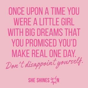 dont disappoint yourself