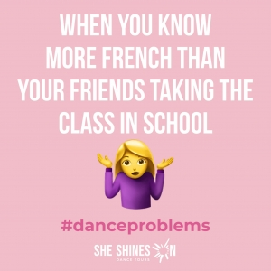 Dance Joke - When you know more French